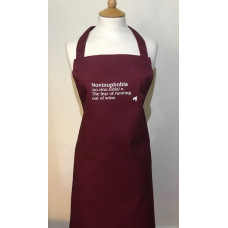 Burgundy Wine Quote Apron - Novinophobia