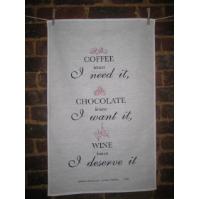 Wine Quotes Tea Towels