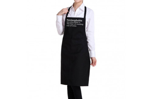 Black Wine Quote Apron - Novinophobia